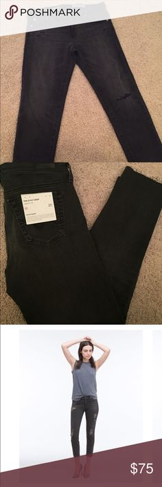 BNWT Adriano goldschmied stilt crop black jeans Brand New with Tags Adriano Goldschmied Stilt Crop Jeans in black.  Part of their AG-ed denim line.  The last two pics looks just like the jeans except the placement of the holes on the jeans is different.  Retail is $215 Adriano goldschmied Jeans Ankle & Cropped