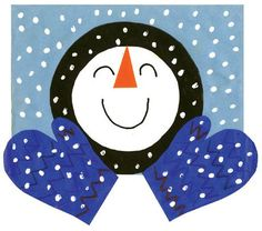 A snowman made with basic shapes! A fun project for a January bulletin board. Let it Snow!