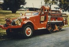A WWII - 5 ton Army half track converted to a forest/brush fire truck...
