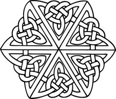 irish celtic pattern coloring pictures to print and color - Celtic Patterns To Colour