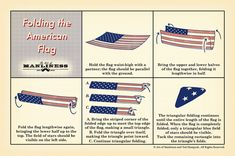 How to Fold the American Flag // any boy who can fold a paper football knows how to do this already