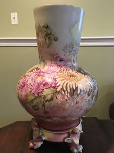Limoges Vase and Stand by VintageFamilyGoods on Etsy https://www.etsy.com/listing/385438546/limoges-vase-and-stand
