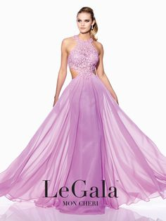 Lovely in Lilac from the LeGala collection #ipaprom