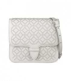 Alaia Arabesque Mini Studded Leather Shoulder Bag