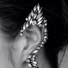Ear Cuff I am thinking this is a potential starting point for a really rockin' halloween costume.