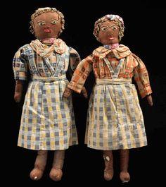 "Women dolls in housedresses,""  1920s or '30s,"