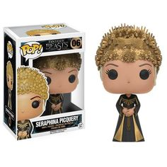 This is the Funko Fantastic Beasts POP Seraphina Picquery Vinyl Figure that is produced by Funko. It's neat to see that Funko decided to give the Fantastic Beas