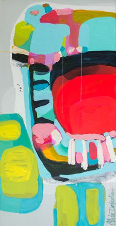 """Missed Call"" by Claire Desjardins. 24""x48"" - Acrylics on canvas."