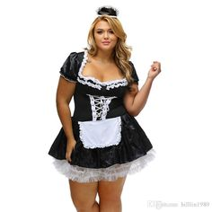 FRENCH MAID COSTUME Halloween Fancy Outfit Party Naughty Dress Buck Hens Night