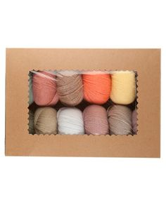 KnitPicks Palette - Soft Gift Box, $35.99 - twelve 50g balls of KnitPicks Palette yarn in an elegant selection of delicate pastels with complex, muted undertones that are reminiscent of the Victorian era. Perfect for colorwork knitters and crocheters that like to use color in a subtle and understated way.