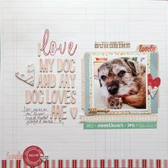 I love my dog by Sockergrynet at Studio Calico    I should do one - I love my cat(s) and....