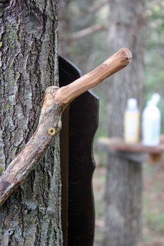 Towel hanger for our outdoor shower | Homestead Honey