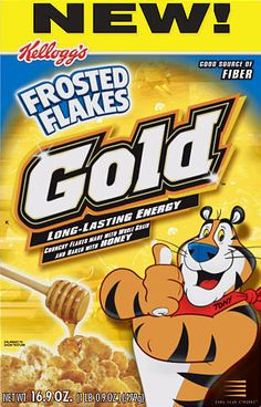 Kellogg's Frosted Flakes Gold.