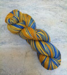 Exploding Tardis Sock Yarn -  Doctor Who Inspired - Vincent  MCN 435 yards Merino/Cashmere/Nylon. $21.00, via Etsy.