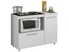 Balcão de Cozinha para Cooktop de 5 Bocas 2 Portas - Multimóveis