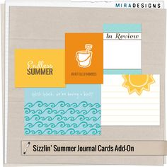 Free printable Project Life cards: Sizzlin' Summer with a freebie ~ Mira Designs