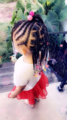 African Baby Hairstyles, Little Girls Natural Hairstyles, Toddler Braided Hairstyles, Toddler Braids, Lil Girl Hairstyles, Cute Hairstyles For Kids, Braids For Kids, Kid Braid Styles, Little Girl Braids
