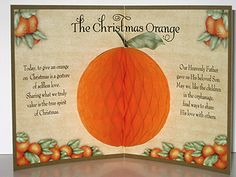 Such a great message to share at Christmas...and my oranges are ripe:)