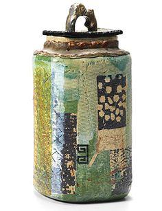 'Tea Caddy - Tallish with Edwardian lid' Robert Cooper