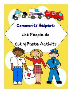 This is a community helpers activity on the jobs people do. Students read the clues in the riddle. They decide which community helper does that job...