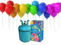 Zestaw do samodzielnego napełniania 50 balonów helem - butla + balony + wstążki.