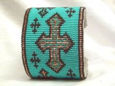 I WANT this one....  Thumbnail of .Southwestern Beaded Cuff Bracelet 1655