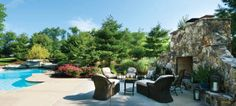 Landscaping Outdoor rooms hardscapes Housetrends Pools - National