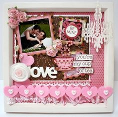 Scrapbook in a frame!! I will be doing many of these for our baby girl :)
