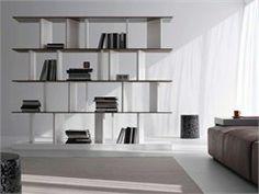 Freestanding cement bookcase