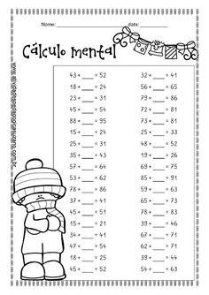 Cálculo mental - Atividades Adriana Math Division Worksheets, Kids Math Worksheets, Classroom Activities, Maths Exam, Math Tutor, Teaching Math, Math Math, Math Exercises, Math Drills