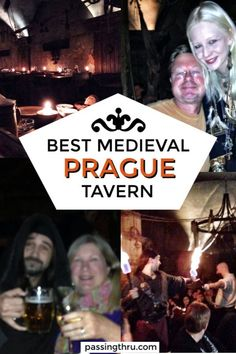 Many visitors to Prague spend a raucous evening in a Prague medieval tavern. The experience is fun with plenty of food, drink and merriment. Medieval tavern Prague | medieval dinner Prague | Medieval show Prague | Best of Prague #prague #travel #medievalt