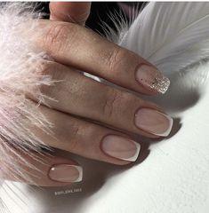The Most Popular Nail Shapes – NaiLovely French Tip Acrylic Nails, French Tip Nail Designs, French Manicure Nails, Aycrlic Nails, Oval Nails, Cute Acrylic Nails, Classy Nails, Stylish Nails, Bride Nails