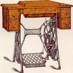 Singer Sewing Machine Cabinet Table No. 11