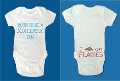 Infant creeper Born Oilers fan poop Flames Edmonton calgary funny onesie  Mcdavid d95999566