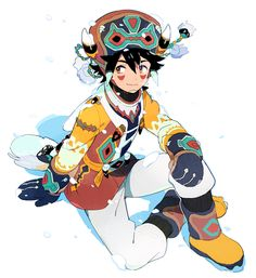 """트위터의 POO(ぷー)の絵 님: """"雪の少年 http://t.co/toyMemPaQj"""""""