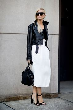 Black and white style fashion