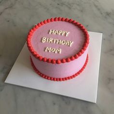 Pretty Birthday Cakes, Pretty Cakes, Mini Cakes, Cupcake Cakes, Simple Cake Designs, Pinterest Cake, Watermelon Cake, Masterchef, Cute Desserts