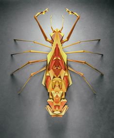 Created by designer 'Istvan' of Chaotic Atmosphere, these geometric insects are a beautiful exercise in fictional biology, code, and digital illustration. The collection of nearly 100 organisms with day/night variations is titled Biotop from Polygonia was made in Cinema 4D using random values within parameters designed by Istvan. You can see the full series over on NeonMob, a digital platform for discovering, collecting, and trading art online.