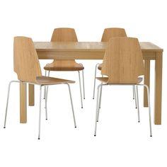 BJURSTA Mesa extensible - chapa roble - IKEA | Working Girl Goods ...
