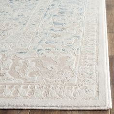 Safavieh Flora Blue/Ivory Area Rug & Reviews | Wayfair UK
