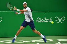 8/6/16 Stevie Wins Olympic Opener... Via #TennisUpdateINA  ·    #Rio2016 #Tennis MS R1: [12] Steve Johnson (USA) def Darian King (BAR) 6-3 6-2. (Rio FB)