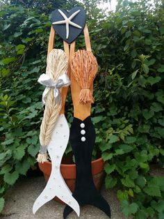 CUSTOM Bride and Groom Mermaid couple Wall Hanging: Handmade by JeanneTierneyDesigns on Etsy
