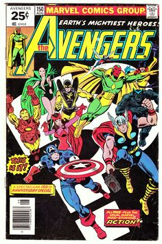 """brianmichaelbendis: """" THE AVENGERS #150 (Aug. 1976) Cover Art by George Perez """""""