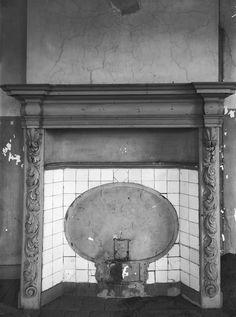 Kasteel Bleijenbeek, schouw 2e etage voorkamer westvleugel (september 1919)