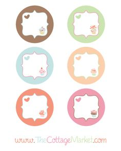 The Cottage Market: The Graphic of the Day Free Adorable Cupcake tags or Labels