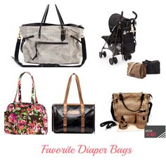 Super chic options for expecting and new moms. Add one of these to your registry! Favorite Diaper Bags | MomTrends