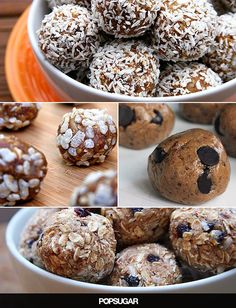 """Fuel Up With Dessert! 4 Protein Ball Recipes *Tried 3 of the 4, only one I""""ll make again - the Chocolate PB"""