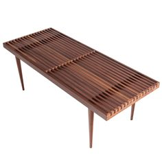 Slatted Bench | Mel Smilow | Smilow Furniture | SUITE NY