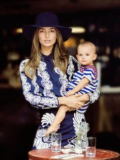 fedora + embroidery / Lily Aldridge and Dixie Pearl in Vogue