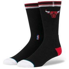 Stance Chicago Bulls Socks - Black Large ($13) ❤ liked on Polyvore featuring men's fashion, men's clothing, men's socks, black, stance mens socks and men's mid calf socks